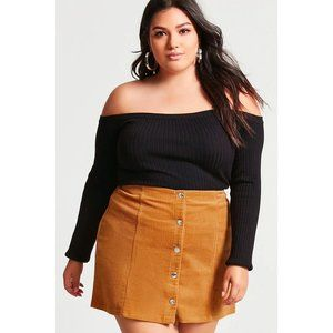 FOREVER 21+ Plus Size Corduroy Mini Skirt sz 3X